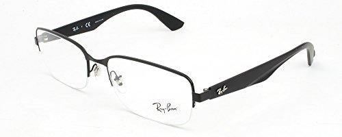 Ray Ban Optical Montures de lunettes RX6311 Pour Homme Matte Black, 52mm Noir (Negro)