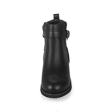 Similicuir Gros Noir Femme Confort Blanc GLL Automne Botillons amande 2 5 amp;xuezi Amande cm Fermeture Décontracté Habillé Hiver 4 à Bottes Boucle 5 Talon xZ7Z6Xq