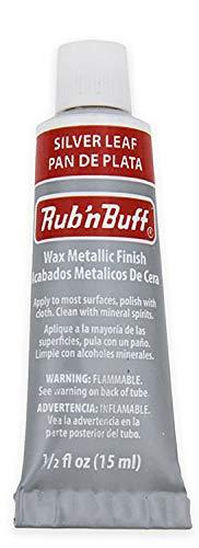 AMACO 76370K Rub 'n Buff Wax Metallic Finish, Silver Leaf, 0.5-Fluid Ounce from AMACO