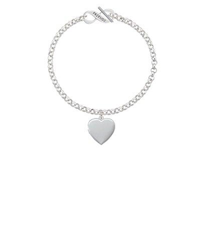 Silvertone Heart Locket Friends Infinity Toggle Chain Bracelet, 8