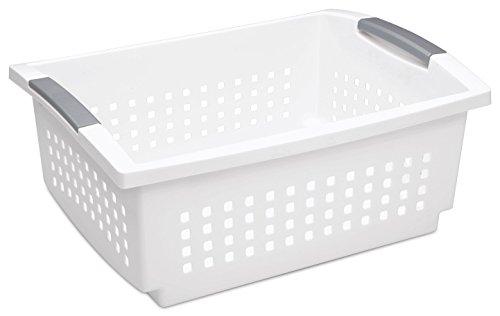 Sterilite 16648006 Stacking Plastic Basket