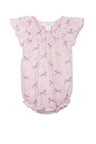 Feather Baby Girls Clothes Pima Cotton Short Sleeve Ruched Sunsuit Bubble Bodysuit