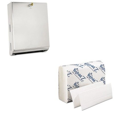 KITBOB262GEP20887 - Value Kit - Georgia Pacific Z Paper Towels (GEP20887) and Bobrick ClassicSeries 262, Stainless Steel Surface-Mounted C Fold and Multifold Paper Towel Dispenser (BOB262) by Georgia-Pacific