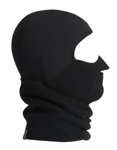 (Turtle Fur Fleece-Maskot, Polartec Windbloc Full Face Balaclava, Black,)