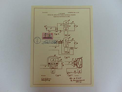 """RARE!""""Cardiac Surgeon"""" Michael DeBakey Signed Patent Drawing Todd Mueller COA from Unknown"""