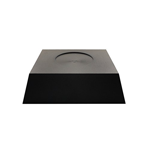 Artliving Plastic Oriental Square Vase Pedestal Stands for Display Black (Stand Black Vase)