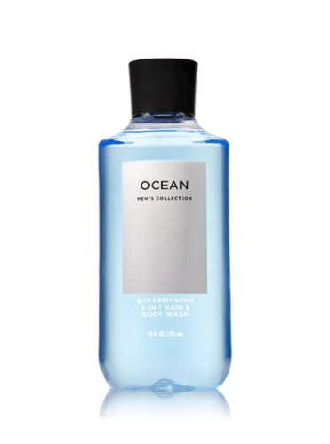 Bath & Body Works, Signature Collection 2-in-1 Hair + Body Wash, Ocean For Men, 10 Ounce 667532660647