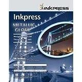 Inkpress Metallic Paper, 255 gsm, 10 mil, Metallic Satin Surface, 8.5×11″, 50 Sheets, Office Central