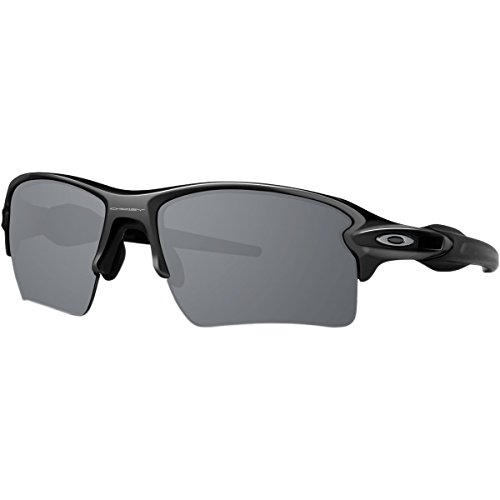 Oakley Men's Flak 2.0 Xl Non-Polarized Iridium Rectangular Sunglasses, Polished Black w/Black Iridium, 59 - Iridium What Is Sunglasses