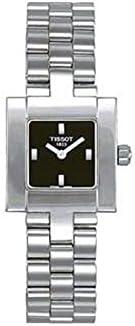 Reloj Tissot de señora en acero con esfera negra, descatalogado T64118551.