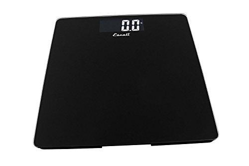 Escali B200B Glass Platform Digital Bathroom Scale 440Lb/200Kg, Black by Escali