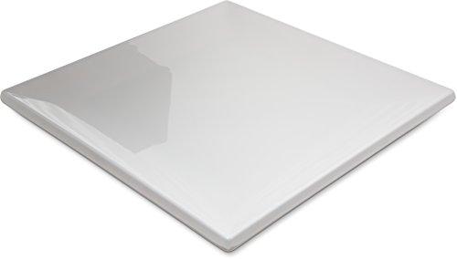 Plates Wide Carlisle Rim (Carlisle HAL1102 Halcyon Square Rim Plate, 12