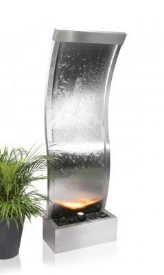 Fuente de agua-curva de pared acero inoxidable-1, 5 m ...