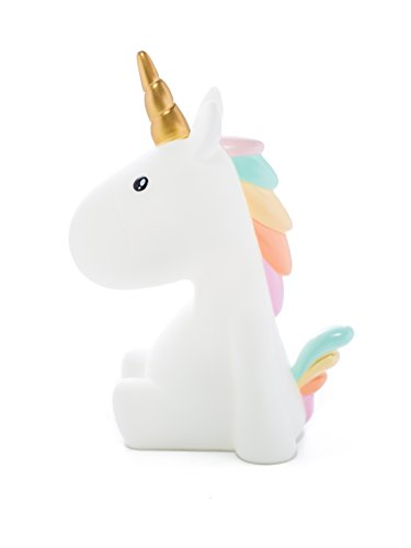Dhink Unicorn Night Light for Kids Bedroom Rechargeable Battery with Timer Dimmable, Soft Rainbow