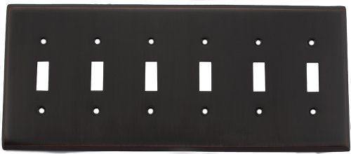 Oil Rubbed Bronze Six Gang Toggle Light Switch Wall - Plate 6 Toggle Wall
