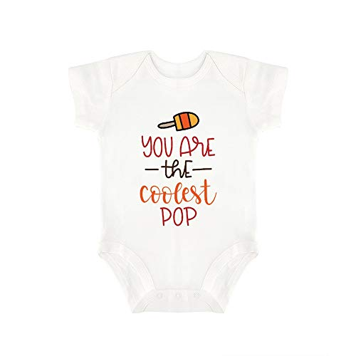(Promini Cute Baby Onesie You are The Coolest Pop Baby Bodysuit Infant One Piece Baby Romper Best Gift for Baby White)