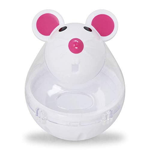 Glumes Interactive Dog Toy - Rat Shape Food Dispenser Ball Toy for Small Medium Large Dogs Durable Chew Ball - Boredom Puzzle Toys Food Slow Feeder Tumbler IQ Treat Ball - Easy to Clean by Glumes (Image #1)