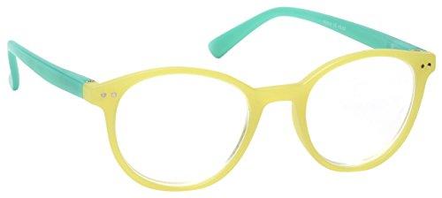 The Reading Glasses Company Light Green Matt Finish Lightweight Readers Designer Style Womens Ladies R25-6 - Designer Spectacles