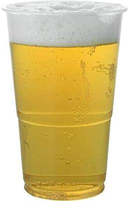 De Plástico Transparente Desechables Pinta Cerveza Vasos Copas Tazas Bares Fiestas Eventos