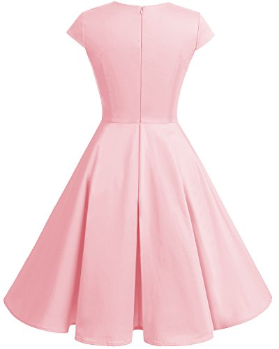 Short Swing Party Cocktail Bbonlinedress 1950s Women Vintage Retro Blush Dresses a5wqPfpHx