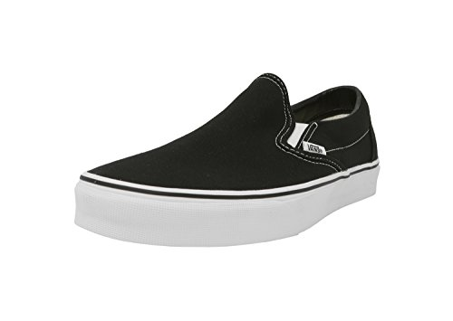(Vans Unisex Classic Slip On Sneakers Black 10)