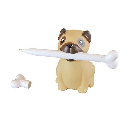 - Pug Pen Holder & Bone Pen - Novelty Desk Supplies