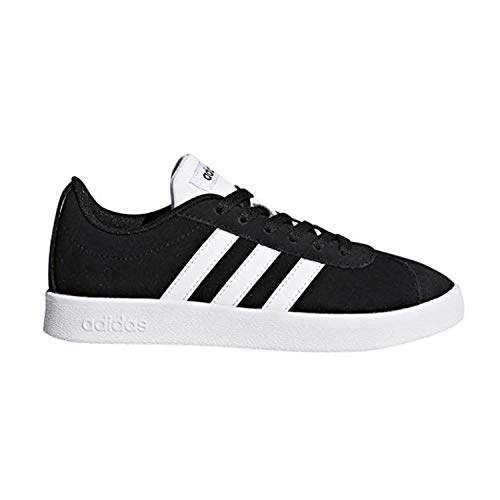 adidas Kids' VL Court 2.0, Core Black/White/Core Black, 2 M US Little Kid for $<!--$28.94-->
