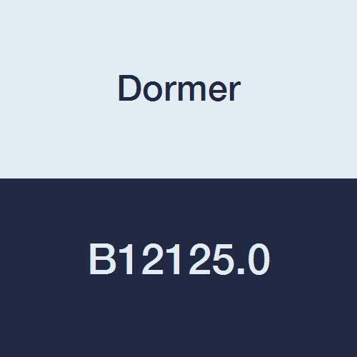 (Dormer B12125.0 Bridge Reamer, Morse Taper Shank, Bright/ST Coating, High Speed Steel, Head Diameter 25 mm, Flute Length 180 mm, Full Length 296 mm)