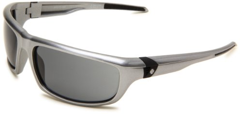 Spy Optic Otf 673018556129 Wrap Sunglasses,Silver Frame/Grey Lens,One - Sunglasses Scoop Spy