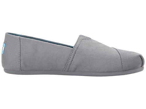 Kvinna Duk Slip-on (stål-grå)