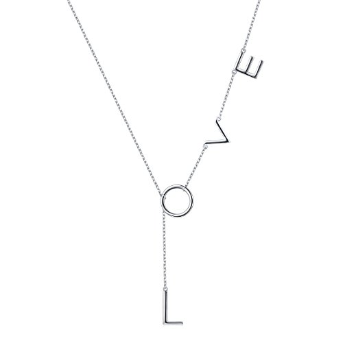 S925 Sterling Silver Jewelry Forever Love Love Pendant Necklace 18+2