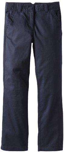 Dockers Big Girls'  Twill Straight Leg Pant, Navy, 10