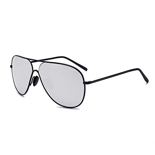 lunettes hommes Unis grenouille et Black Trend États de silver Retroe Legant les de WLHW miroir l'Europe soleil Lunettes frame et Water polarisant soleil femmes COYqtZw