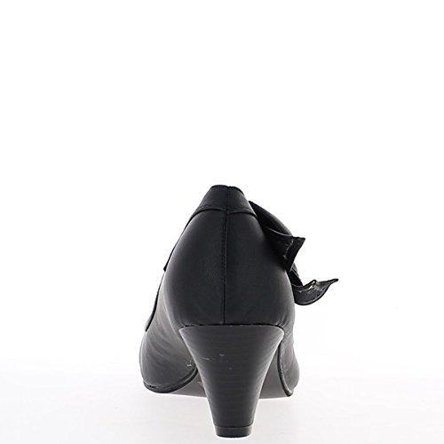 Negro zapatos tamaño 5.5cm nodo talón lado
