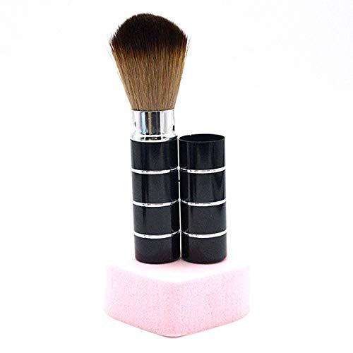JER Fard à joues brosse rétractable Pinceau quotidien maquillage télescopique en acier inoxydable Party pinceau rétractable (noir) Produits Beauté Pour Maquillage