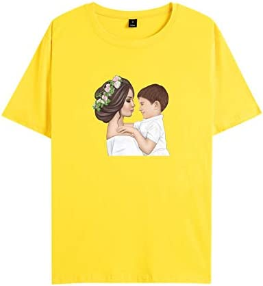 WUJIAJIA Camiseta Estampada De Manga Corta Crew Neck para ...
