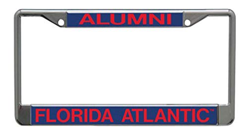 WinCraft Florida Atlantic University Alumni Premium License Plate Frame, Chrome with 2 Mount Holes
