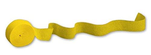 School Bus Yellow Crepe 81ft Roll CASE (12 rolls)