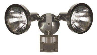 Heath/Zenith HZ-5412-BZ-D Heathco Hz-5412-Bz Security Light, 120 Vac, 300 W, Halogen, Medium (E26), 150 W, Bronze