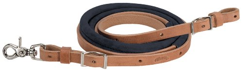 Weaver Leather Suede Covered Barrel Rein, 5/8-Inch x 8-Feet, Black