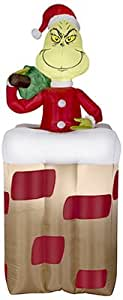 Gemmy Industries 30949 Christmas Decoration, Inflatable Grinch, 6-Ft. - Quantity 6