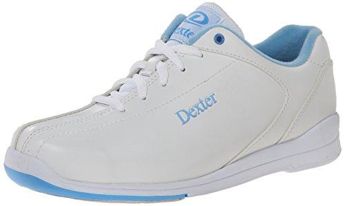 Dexter Women's Raquel IV Wide Bowling Shoes, White/Blue, 8.5