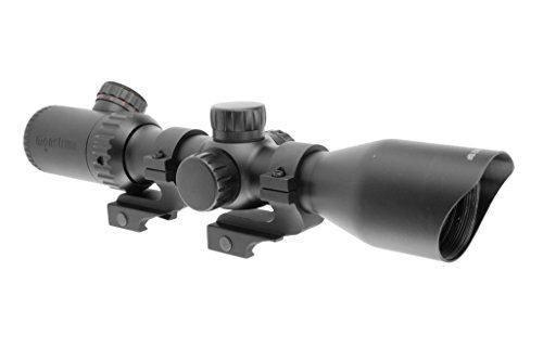 Monstrum Tactical 3-12x42 AO Rifle Scope with Illuminated Mil-Dot Reticle and Offset Reversible Scope Rings (Black/Offset Rings) (Best Ar 15 Brand For The Money)