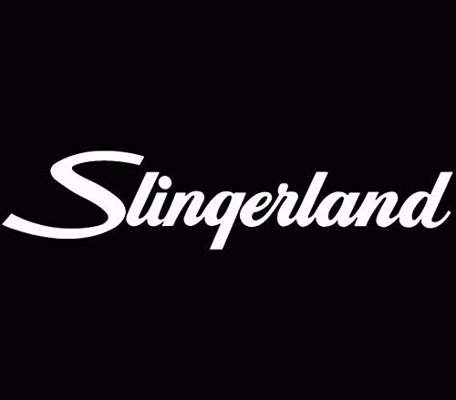 Photo Slingerland Drums Logo Bass Car Window Decal Truck Sticker White, Die Cut Vinyl Decal for Windows, Cars, Trucks, Tool Boxes, laptops, MacBook - virtually Any Hard, Smooth Surface