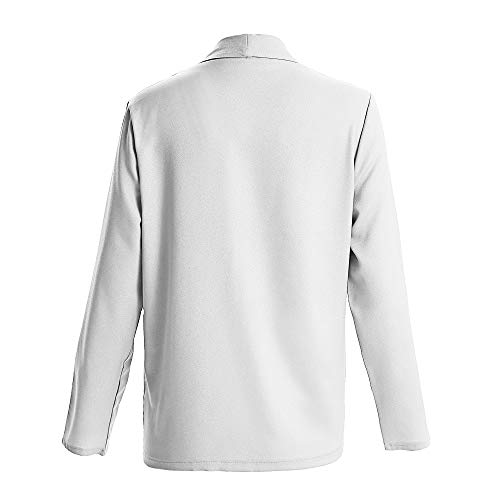 Cardigan Long Solid Sleeve Casual Blazer Open White Fashion Coat DOLDOA Womens Jacket Front XfwWBZq
