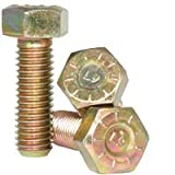 5/8''-11x2'' (FT) Cap Screw, Grade 9, Made in USA, Zinc Yellow CR+3 (inch) (Quantity: 200)