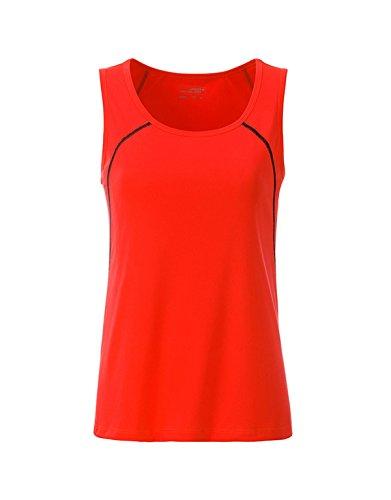 fitness tirantes y color mujer para negro naranja 2store24 deportes para de Camiseta brillante n04aqxgYZ