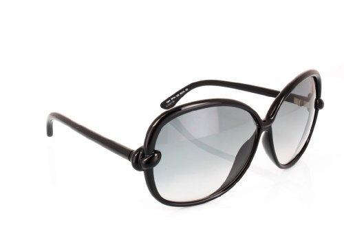 Tom Ford Ingrid FT0163 Sunglasses - 01B Black (Gray Gradient Lens) - 62mm (Gray Sunglasses Ford Tom)