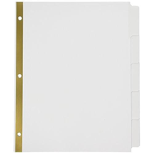 85 off staples write on big tab dividers 5 tab set white tabs 4