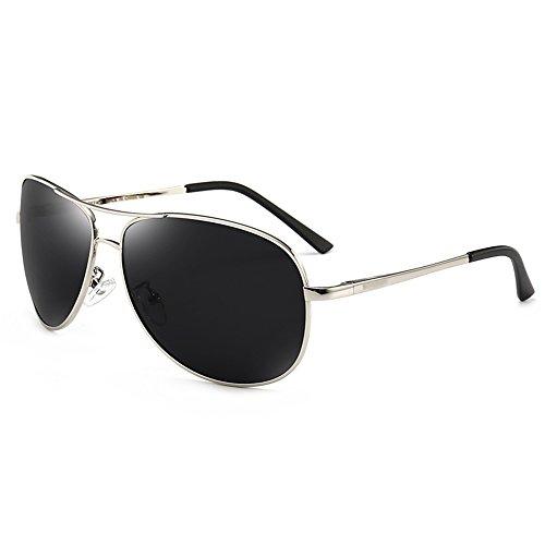 Protección de polarizador Gun de sol Wayfarer Color hombres de sol SSSX los conducen Plata Gafas antideslumbrante GYYTYJ aviador de que UV color Gafas La PnRTqOEnaw